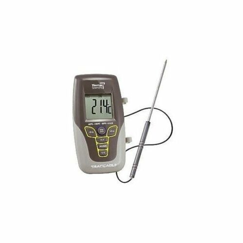 Thomas 6410 Traceable Platinum Hi-Accuracy Thermometer with Stainless Steel Handle Probe