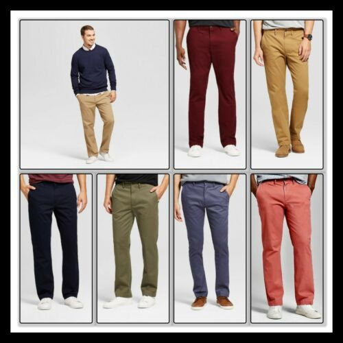 GOODFELLOW Hennepin CHINO Straight Fit Stretch 7 Colors  ALL SIZES