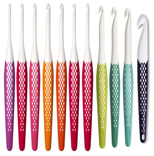 12mm KnitProWaves Soft Grip Colourful Handle Crochet Hooks2mm