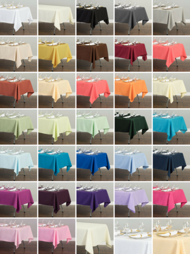 LinenTablecloth 60 x 102 in Rectangular Polyester Tablecloth Wedding Event Party