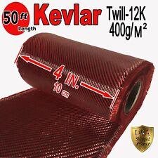 "Carbon Fiber Panel Made with Kevlar Orange .012/""//.3mm 2x2 twill-12/""x48/"""