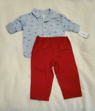 89 NEW CARTERS Infant Baby GIRL Size 6 MONTHS 6M Dress Set White Octopus Sea