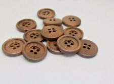 30L//17mm Nail Back Mink Chenille Velvet Fabric Covered Upholstery Buttons Brown