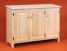 "AMISH Unfinished Pine 58/"" Rustic 2 Door Pantry Cabinet ADJUSTABLE SHELF Handmade"
