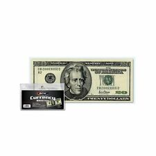 Modern Currency Bill Rigid Topload Holders top load 25 BCW Regular Small