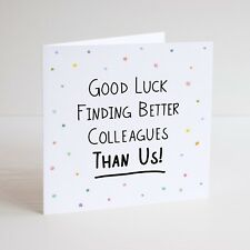 Rude Funny Leaving Card New Job Goodbye Sorry To See You Leave Naughty Banter