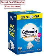 Flushable Wipes Cottonelle Freshcare Adults Alcohol Free BUY BULK SAVE 504 Ct