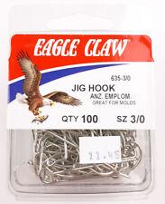 EAGLE CLAW 374F 2X BRONZE TREBLE HOOK 50pk sizes 1//0 3//0 4//0
