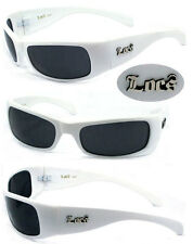 Locs Flat Top Sunglasses UV400 Shiny Black Frame LC81