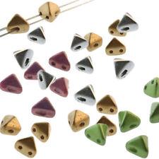 Kheops® Par Puca® Czech Glass Triangle Beads Tweedy Silver 6mm 9g K103//10