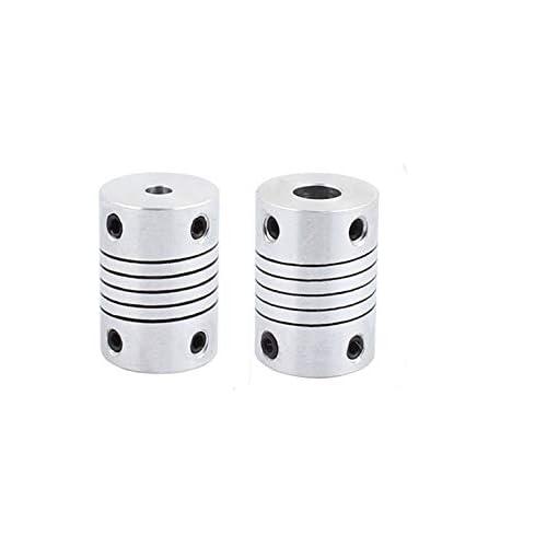 Pack of 4) Xnrtop 5mm to 6.35mm Shaft Coupling 25mm Length 19mm Diameter Stepper Motor Coupler Aluminum Alloy Joint Connector for 3D Printer CNC Machine DIY Encoder