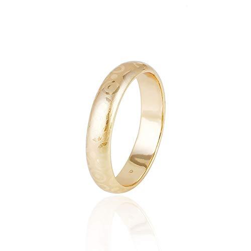 Engagement Wedding Bands Nireus 18K Gold Plated Promise Love Rings for Women