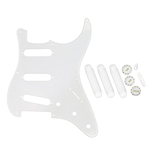 GooTon SSS 11 Hole Strat 3 Ply Guitar Pickguard Cover Compatible with Strat Style Modern Guitar Parts,Black