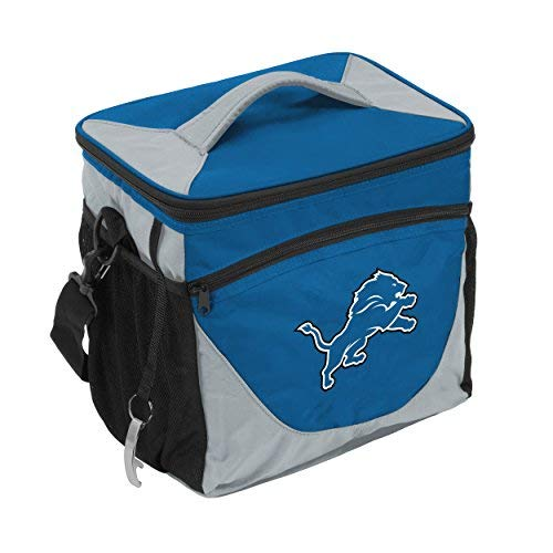 Logo Brands 611-63 NFL Detroit Lions Carrot 24 Can Cooler One Size