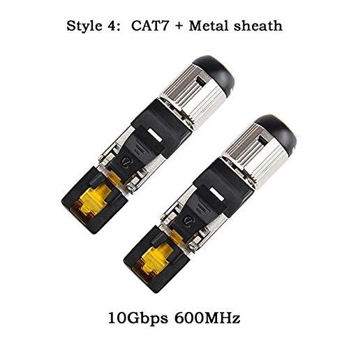 5E Cable ShineBear RJ45 RJ-45 Connectors Modular 100 x RJ45 Module Plug+100 x RJ45 Boots//Caps for CAT5 Cable Length: As Show