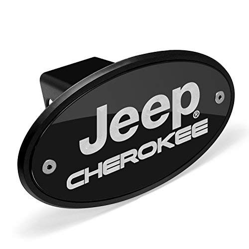 Jeep Life Black Coated Metal Trailer Hitch Cover Plug 2 inch Post