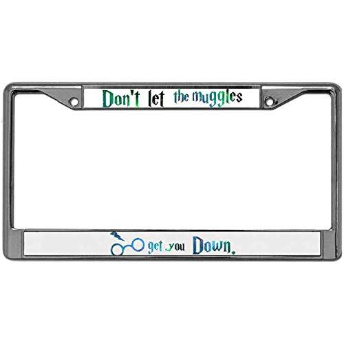 Sleep Black METAL License Plate Frame Eat Ride Auto Accessory 733