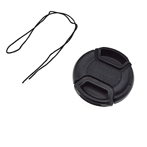 Lens Cap Side Pinch + Lens Cap Holder Nw Direct Microfiber Cleaning Cloth for Sony Alpha A6000 55mm