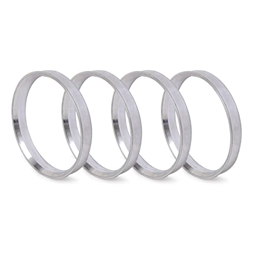 Wheel | Hubcentric Center Ring 57.1mm to 78.1MM for Many AUDI CHEVROLET DODGE CHRYSLER Hub to 57.1mm NB-AERO 4pc Silver Aluminum Hubrings 78.1mm