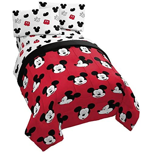 Jay Franco /& Sons Disney Mickey Mouse Velvet Soft Plush Full//Queen Blanket 100/% Easy Care Polyester