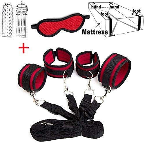 POPBBIE Womans Bed Tied Str/áps Bedroom Cuffs Set
