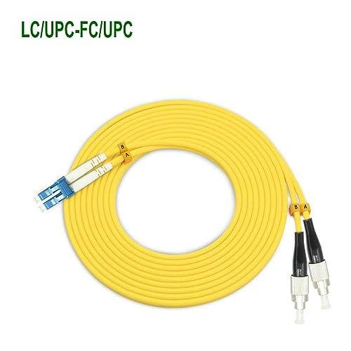 Jeirdus 200M SC to FC Indoor Armored Duplex 9//125 SM Fiber Optic Cable Jumper Optical Patch Cord Singlemode 200Meters 656ft SC-FC