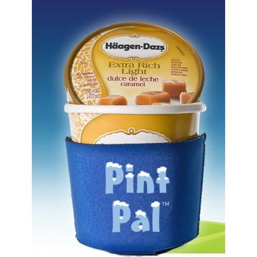 Spoon Me Insulated Ice Cream Pint Cozy Holder Sleeve Black