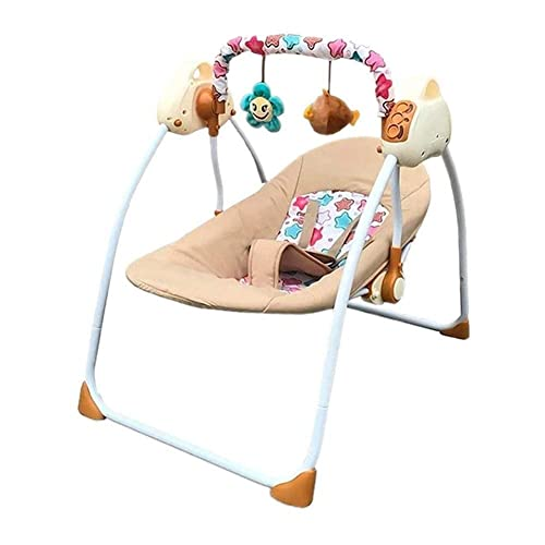 Ages 0-6 Baby Toddler Sleeping Rocker Cot YX Baby Bouncer Infant Comfort Swing Chair Soft Toddler Cradle Seat Baby Rocker,Quick Assembly