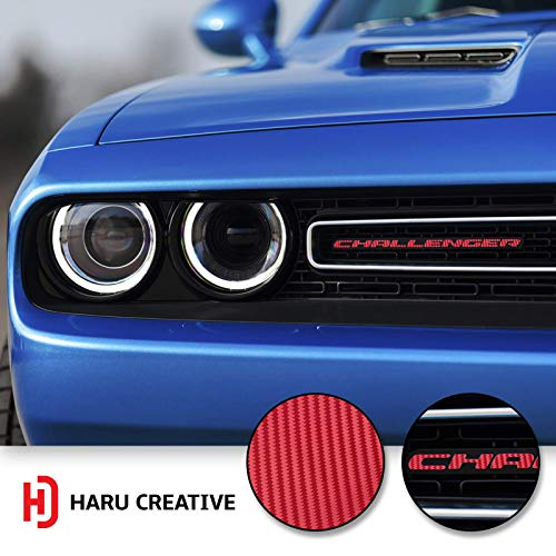 Rear Bumper Trunk Emblem Overlay Vinyl Car Decal Sticker Compatible with and Fits Dodge Charger 2015 2016 2017 2018 2019 Haru Creative Gloss Yellow