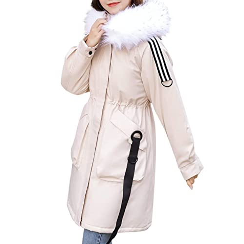 KOERIM Womens Vintage Floral Print Hooded Jacket Winter Warm Faux Plush Zipper Overcoat