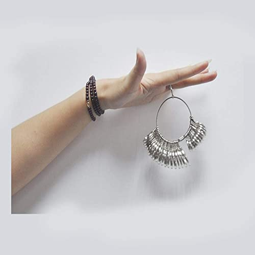 Black TUPARKA 2Pcs UK Ring Sizer Plastic Finger Sizer Ring Gauge Measuring Tool Belt with Jewelry Polishing Cloth