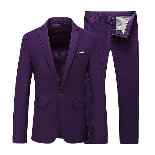 One Button Blazer Set Jacket Vest /& Pants EastSide Mens Slim Fit 3 Pieces Suit
