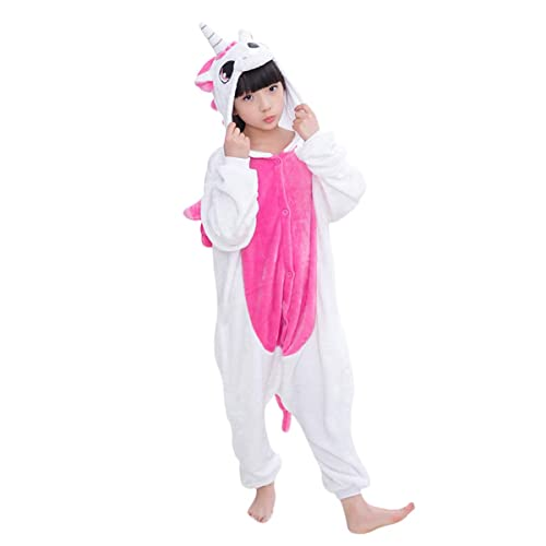 MHJY Unicorn Pajamas for Kids Hooded Animal Sleepwear Halloween Cosplay Costume