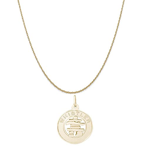 14k Yellow Gold Endangered Species Pendant on a 14K Yellow Gold Rope Box or Curb Chain Necklace