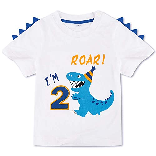Onlybabycare Mama and Baby Dinosaur 100/% Cotton Toddler Baby Boys Girls Kids Short Sleeve T Shirt Top Tee Clothes 2-6 T