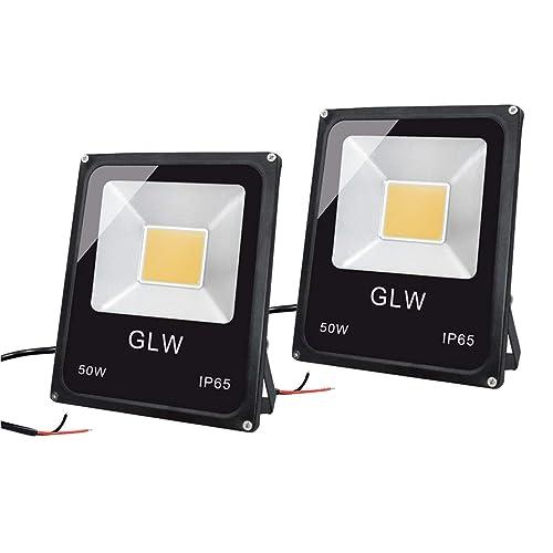 LED Flood Light 50W 120V Spotlights White Outdoor Garden Security Lamp 2PACK