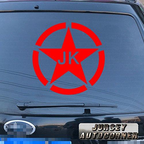 6 Army Star WW2 Decal Sticker Car Vinyl fit for Jeep Toyota Willys Black a sda3 2