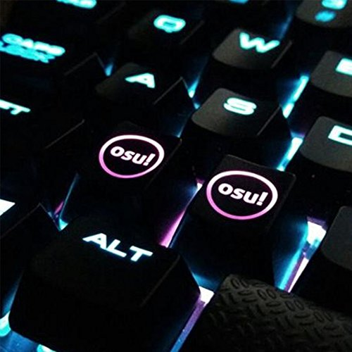 Tastenkappen f/ür Cherry Tastatur Backlit Mechanical Tastatur Tastenkappe hfsecurity 2/Pcs Hintergrundbeleuchtung OSU