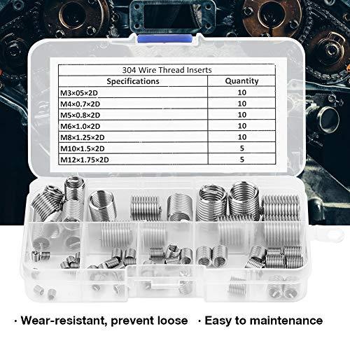 Fullerkreg Metric M20-2.5X1.5D Wire Thread Inserts,304 Stainless Steel,5Pcs