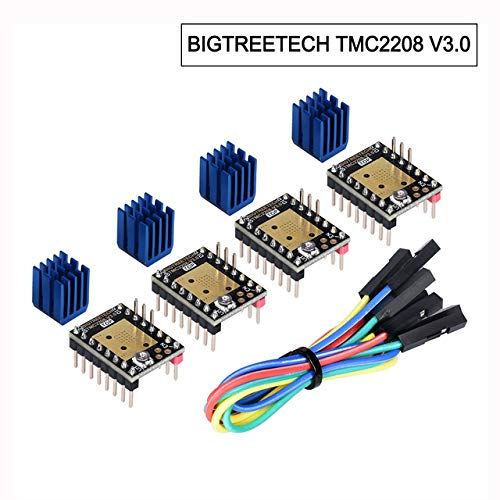 Yellow Eryone 5PCS TMC2209 Stepper Motor Driver Module Packed with Heat Sink Screwdriver for 3D Drucker MotherBoards Reprap MKS Prusa and More