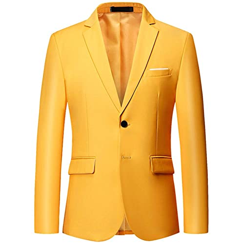 YOUTHUP Mens Blazers Fancy Slim Fit Chic Suit Jacket Casual Business Coat