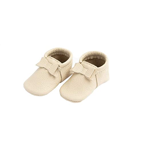 Infant Sizes 0-3 Baby Girl Shoes Multiple Colors First Pair Soft Sole Leather Bow Moccasins