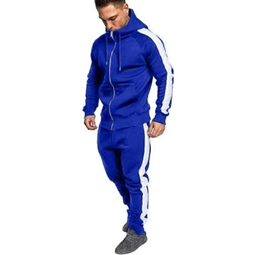 MaxTide Mens Athletic Tracksuit Full Zip Warm Jogging Sweat Suits