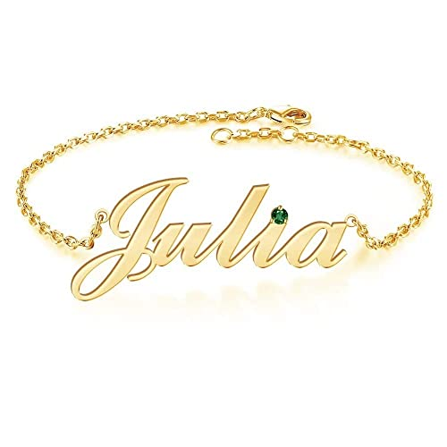 Personalized Name Bracelet or Anklet Bracelet Custom Made with Any Names for Women Girls Custom Name Charm Jewelry for Mothers Day