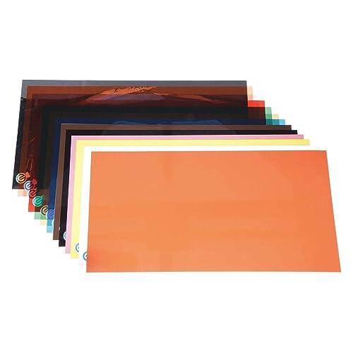 14 Piece Plastic Color Coded Shim Assortment 10 X 20 Flat Sheets
