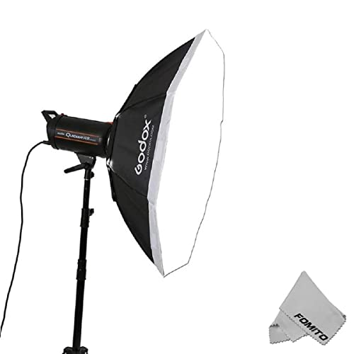 Beauty Dish and Softbox Combination w//Flash Speedring 50cm Flash and Monolights Pro Studio Solutions EZ-Pro 24in Soft Collapsible Beauty Dish with Speedring for Bayonet Mountable Strobe