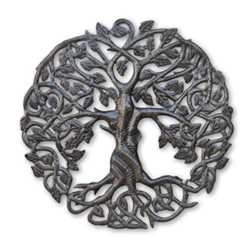 Buy Its Cactus Small Tree Of Life Wall Art 17 25 Inches Round Haitian Metal Artwork Decor Celtic Family Trees Modern Plaque Handmade In Haiti Fair Trade Certified Online In Maldives B07m9zml2z