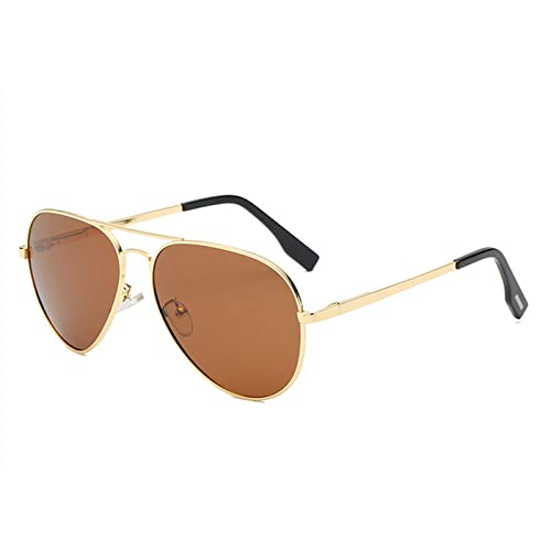 KATCOCO Small Polarized Aviator Sunglasses for Kids and Youth Age 5-18 Kids Aviator Sunglasses WITH CASE 57mm