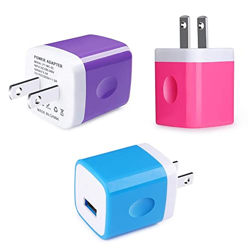USB Wall Charger Brick CableLovers 4-Pack 2.1A//5V Dual Port Travel Power Charger Adapter  Charger Head Plug Box Block Replacement for iPhone Xs X 8 7 6 Plus 6 White Android Moto Samsung LG iPad