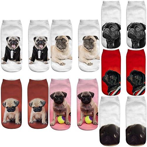 3D Pug man// Women Socks Warm Animal Print Ankle Socks UK Seller Dog Pugly Puppy